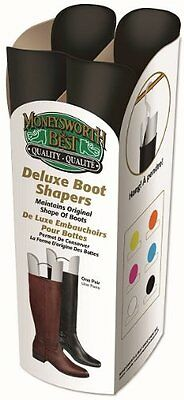 Moneysworth and Best Deluxe Boot Shaper with Hanger, Black