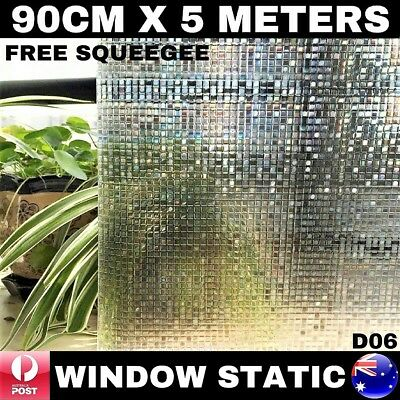 3D Laser Window Static Privacy Film 900Mm X 5000Mm Removable Reusable Glueless