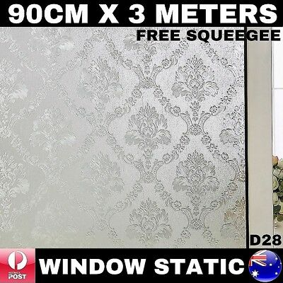 3D Laser Window Static Privacy Film 900Mm X 3000Mm Removable Reusable Glueless