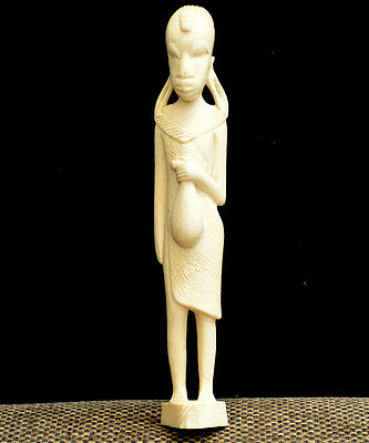 Art Deco Bein China Antik Antique Chinese statue figure c30s carved old figurine