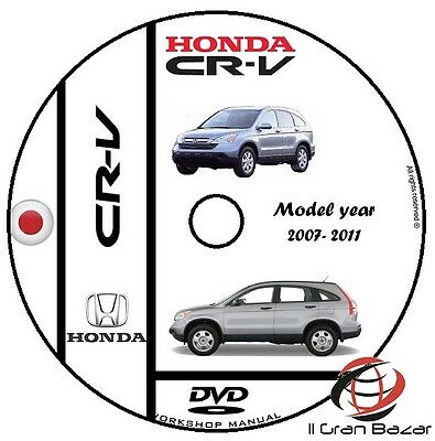 Manuale Officina Honda Crv Cr-V My 2007 - 2011 Workshop Manual Service Cd Dvd