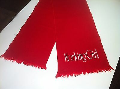 WORKING GIRL Movie Cast Crew Red Wool Scarf 10 x 54