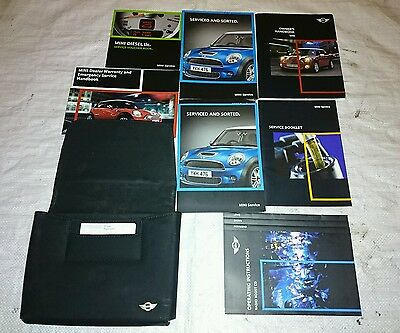 Mini R56 Wallet Owners Handbook Manuals Instructions - Leather Case 2007 2013