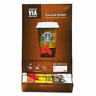Starbucks 11008130 VIA Ready Brew Coffee  3/25oz  Italian Roast  50/Box