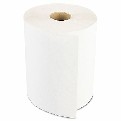 Boardwalk 6250 Hardwound Paper Towels  Nonperforated 1-Ply White  350ft  12