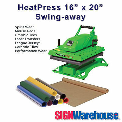 "16"" x 20"" EnduraPRESS SD20 Heat Press produces 20% more heat for the tough jobs"