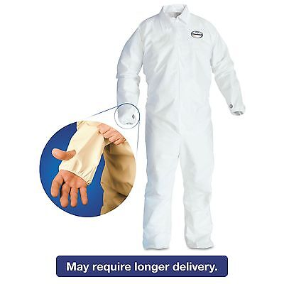KleenGuard* 42526 A40 Breathable Back Coverall with Thumb Hole  White/Blue