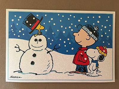 Snoopy And Woodstock Christmas.Peanuts Charlie Brown Snoopy Woodstock Christmas Card Envelope 7 3 4 X 5 New