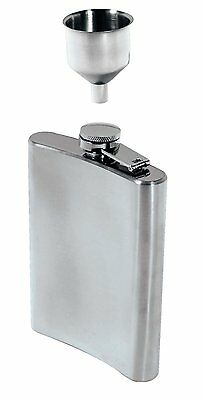 SE HQ90 2 Pc 8Oz Hip Flask and Funnel Set, Stainless Steel