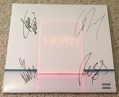 THE 1975 GROUP SIGNED AUTOGRAPH NEW I LIKE IT VINYL ALBUM w/PROOF MATT HEALY +3