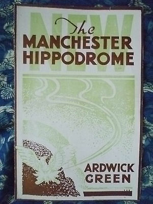 Manchester Hippodrome Theatre 1938-Barry Lupino,Norman Griffin in CRAZY DAYS
