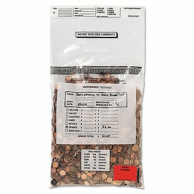 MMF Industries 231042120 Tamper-Evident Coin Tote  50lb Cap  6.5mil  13 x 22