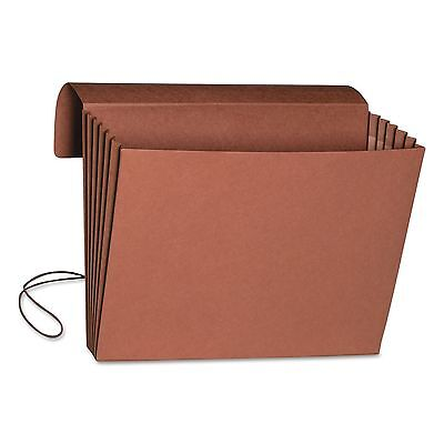 "Smead 71111 5 1/4"" Accordion Expansion Wallet  Legal  15 x 10  Redrope  10/Box"