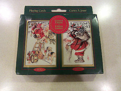 Christmas Playing Cards Sealed Saturday Evening Post J.C. Leyendecker