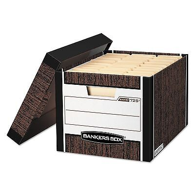 Bankers Box 00725 R-KIVE Max Storage Box  Letter/Legal  Locking Lid  Woodgrain