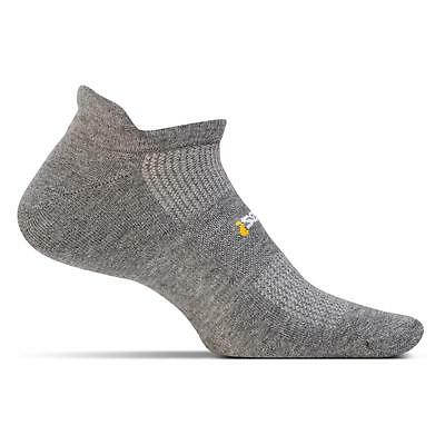 Feetures! High Performance Light Cushion No Show Tab Socks Heather Gray, X-Large