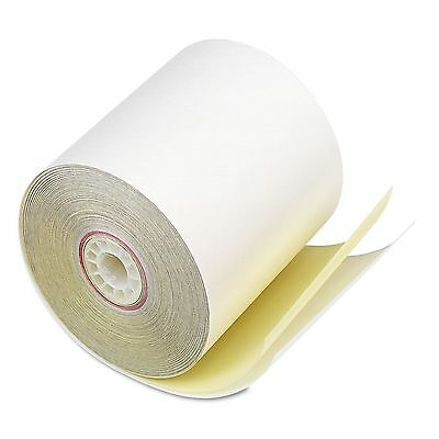 "PM Company 07706 Paper Rolls  Two Ply Receipt Rolls  3"" x 90 ft  White/Canary"
