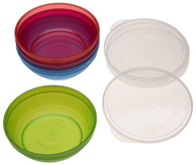 Gerber Graduates BPA Free Bunch-A-Bowls with Lids, 4-Pack, Colors May Vary