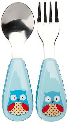 Skip Hop Zootensils Fork and Spoon Utensil Set, Otis Owl