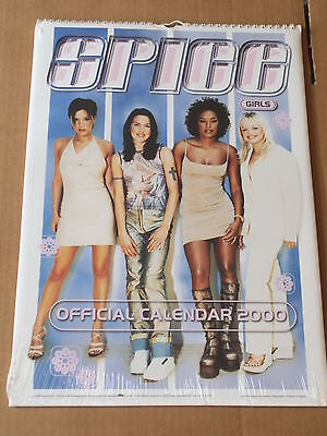 "SPICE GIRLS CALENDAR 2000 Official 16""x12"" New and Sealed"