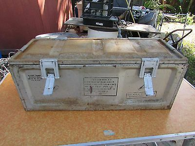 "Vintage 1953 Metal Military Rocket Ammo Large Chest 29"" Youngstown"