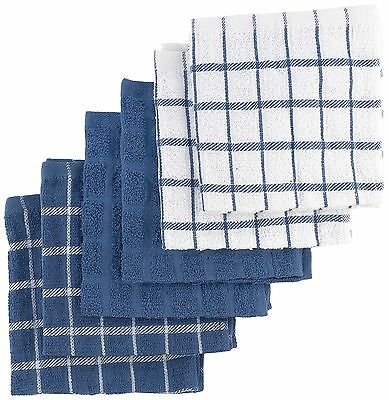 Ritz 92424 6-Pack Terry Cotton Dish Cloths, Federal Blue