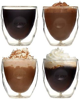 Moderna Artisan Series Double Wall 2 oz Beverage & Espresso Shot Glasses - Set o
