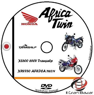 Manuale Officina Honda Xl600 650V Xrv750 Africa Twin Transalp Workshop Manual