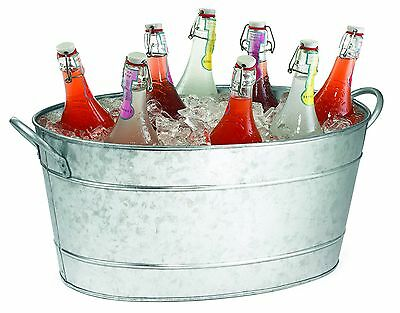 TableCraft Products Remington Collection Galvanized Steel Beverage Tub, 9-1/2-In