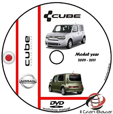 Manuale Officina Nissan Cube My 2009 - 2011 Workshop Manual Service Cd Dvd
