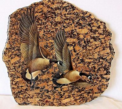 Decor Granite slab plaque with flying geese motiff