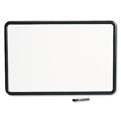 Quartet 7553 Contour Dry-Erase Board  Melamine  36 x 24  White Surface  Black