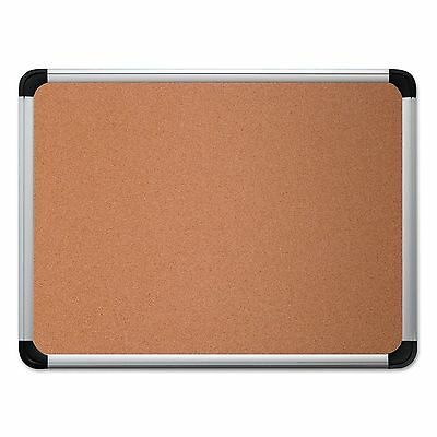 Universal 43713 Cork Board with Aluminum Frame  36 x 24  Natural  Silver Frame