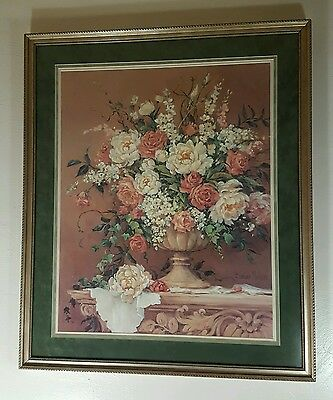 """Large 38""""x 32"""" Barbara Mock Professionally Framed Picture"""