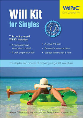 Wilpac Will Legal Kit for Singles