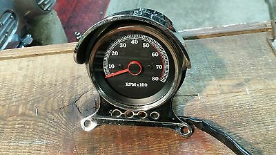 Harley Tachometer and Mounting Bracket Tach Speedometer Mount Sportster Dyna