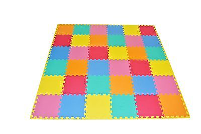 ProSource Kid's Puzzle Solid Play Mat