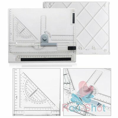 New Professional Architect Artist A4 Drafting Drawing Board Ruler Table Set