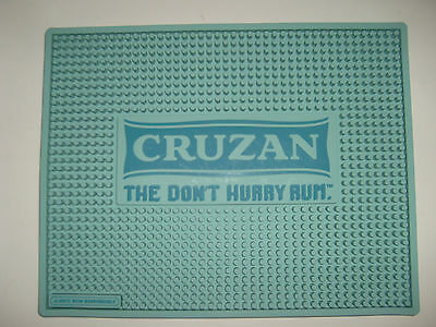 "Cruzan ""The Don't Hurry Rum"" New Rubber Bar Spill Mat 11"" x13 3/4"""