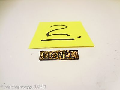 Original Prewar Lionel Train 500 Series BRASS NAMEPLATE Standard Gauge Tinplate