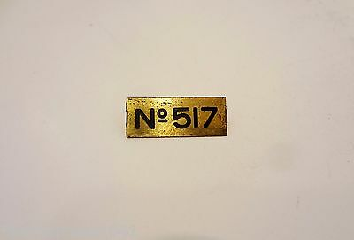 Original Prewar Lionel Train 517 Caboose BRASS NAME PLATE Standard Gauge Tin 30s