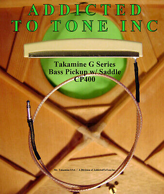 Takamine G Series CP-400 Acoustic BASS Pickup w/ Integrated Saddle / OEM Part