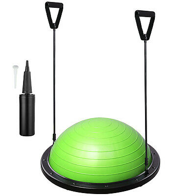 Exercise Fitness Gym Yoga Balance Trainer Ball W/ Resistance Bands & Pump Green