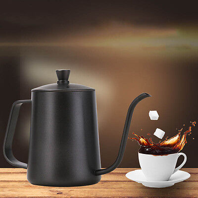 600ml/21Oz  Stainless Steel Coffee Drip Kettle Pour Over Kettle Coffee Spout Pot