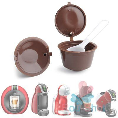 2PCS Refillable Reusable Coffee Capsules Pod Cup for Nescafe Dolce Gusto【AU】