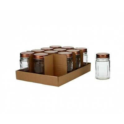 10cm Glass Jar with Copper Screw Top, Country Style 200ml