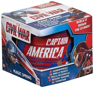 Captain America Marvel Magic Spring Slinky. Christmas Gift Stocking Filler