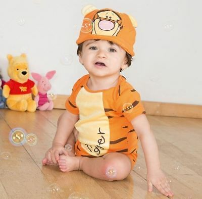 Disney Baby Tigger Bodysuit Vest & Hat 9-12mths - Toddler Babies Costume Outfit