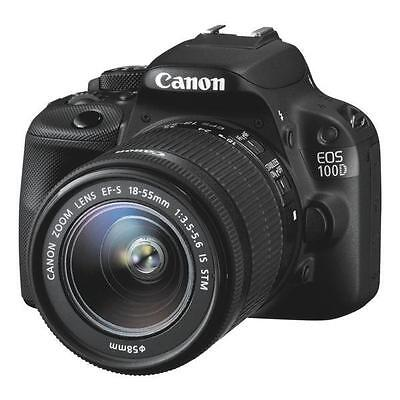NEW Canon EOS 100D 18.0MP Digital SLR Camera with 18-55mm Lens Kit IS STM
