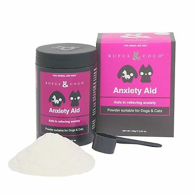 Rufus & Coco Anxiety Aid 100g Dog Can Stress Storm Travel Natural Supplement